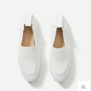 Everlane Day Loafer, White Leather, 8